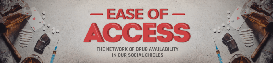 Ease Of Access - The Network Of Drug Availbility In Our Social Circles