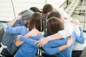 support group meeting during drug addiction treatment
